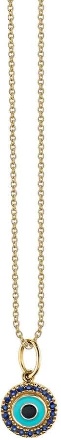 Sydney Evan Gold Sapphire Evil Eye Necklace