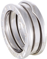 Bulgari Women's Estate B.Zero1 18K White Gold 2-Band Ring