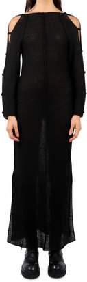 Eckhaus Latta Black Plunge Back Dress