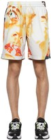 MSGM Printed Cotton Shorts