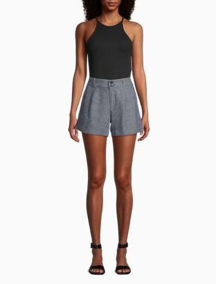 Calvin Klein Linen Button-Front Shorts