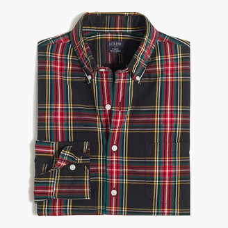 J.Crew Tartan plaid Untucked slim flex casual shirt