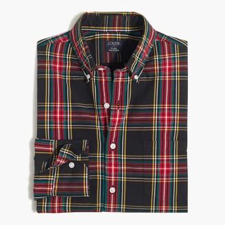 J.Crew Tartan plaid Untucked slim flex casual shirt