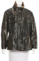 Armani Collezioni Fur-Lined Iridescent Jacket
