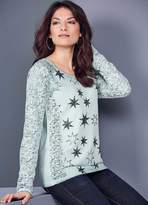 Kaleidoscope Star & Lace Long Sleeve Top