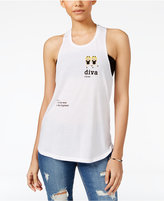 Freeze 24-7 Juniors' Diva Emoji Racerback Tank Top
