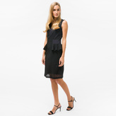 Paul Smith Women's Black Floral-Lace Dress With Silk Panels