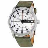 Diesel Men's Armbar DZ1781 Silver Leather Quartz Dress Watch