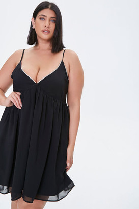 Forever 21 Plus Size Chiffon Cami Mini Dress
