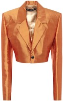 Y/Project Cropped silk-shantung blazer