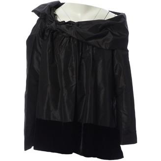 Isa Arfen Black Silk Tops