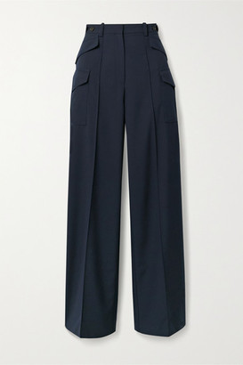Rokh Woven Wide-leg Pants - Midnight blue