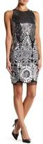 Alexia Admor Sleeveless Sequin Embroidered Dress