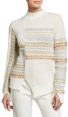 3.1 Phillip Lim Fair Isle Patchwork Pullover Sweater