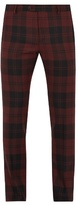 Valentino Checked Slim-leg Wool Trousers