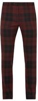 Valentino Checked slim-leg wool trousers