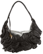 Christian Dior Medium Gypsy Ruffled Hobo
