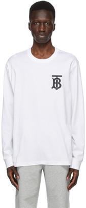 Burberry White TB Monogram Atherton Long Sleeve T-Shirt