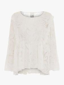 Project Aj117 - Stella Floral Jersey Blouse White - S