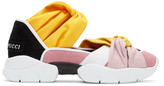 Emilio Pucci Pink & Black Colorblock Knot Slip-On Sneakers