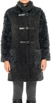 Max Studio Faux Shearling Coat With Buckles