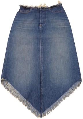 Comptoir des Cotonniers Blue Denim - Jeans Skirt for Women Vintage