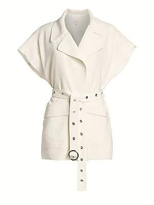 Cinq à Sept Women's Hunter Short Sleeve Cargo Jacket