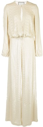 Alexis Ismet embellished palazzo jumpsuit