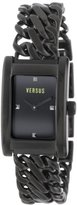 Versus By Versace Women's 3C65700000 Runaway Black Ion-Plated Stainless Steel Rectangular Watch