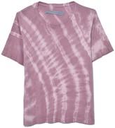 Raquel Allegra Boxy Tee in Deep Rose Tie Dye
