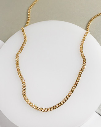 Wanderlust + Co Romee Curb Chain Gold Necklace