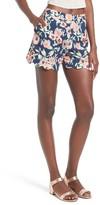 June & Hudson Women's High Waist Scallop Hem Shorts