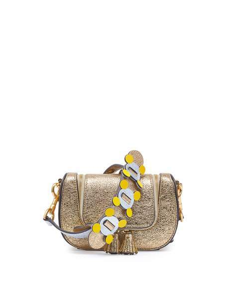 Anya Hindmarch Vere Mini Satchel Circulus Bag, Gold