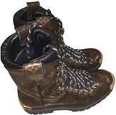 Louis Vuitton LV Creeper Brown Cloth Boots