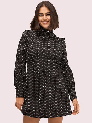 Kate Spade Wavy Dot Ponte Dress