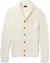 Incotex Shawl-collar Ribbed Cotton Cardigan