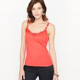 Anne Weyburn Combed Cotton Guipure Lace Top