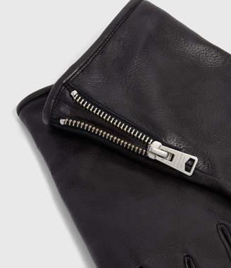 AllSaints Zipper Leather Glove