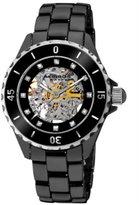 Akribos XXIV Women's AK508BK Ceramic Midsize Automatic Black Bracelet Watch