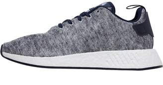 adidas x UA&SONS Mens NMD_R2 Trainers Core Heather/Matte Silver/Footwear White