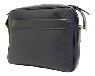 Prada Navy Leather Handbags