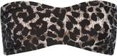 Norma Kamali Sunglass cheetah-print bandeau bikini top