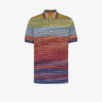 Missoni Stripe Knit Cotton Polo Shirt