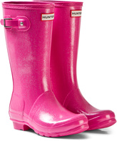 Hunter Glitter Fuschia Original Kids Boots