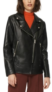 Andrew Marc Solar Leather Moto Jacket
