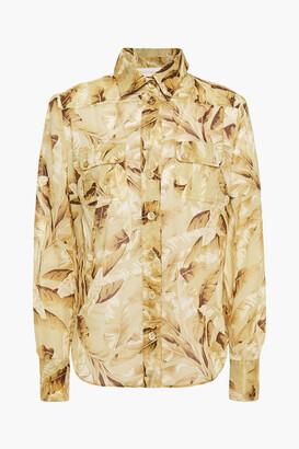 Zimmermann Super Eight Safari Printed Cotton-voile Shirt