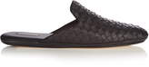Bottega Veneta Fiandra intrecciato leather slipper shoes