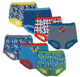 Mickey Mouse Toddler Boys Training Pants, 7-Pack