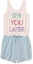 Jessica Simpson Sea You Later Romper, Big Girls (7-16)