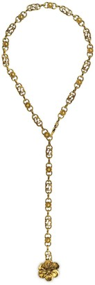 Gucci Metal necklace with floral detail